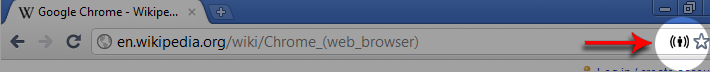 Chrome toolbar